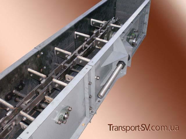 Натяжна станція :: Транспортер (конвеєр) ланцюговий скребковий